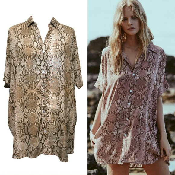 Cheap Best Seller Mombasa Shirt Dress in Brown. - size S (also in XS) Acacia Swimwear Free Shipping Deals Buy Cheap Popular Cheap Buy Quality Free Shipping Low Price 1vlqLRznMo